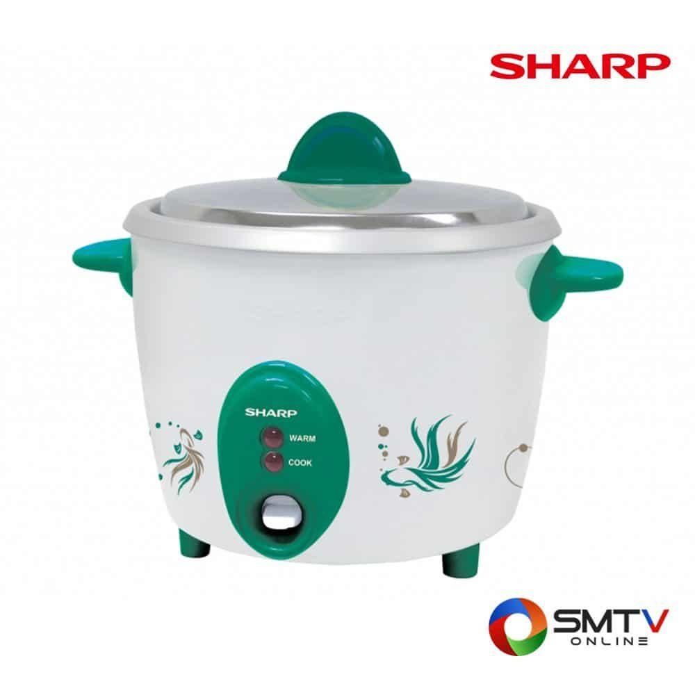 SHARP หม้อหุงข้าว 0.6 ลิตร รุ่น KSH D06 GR