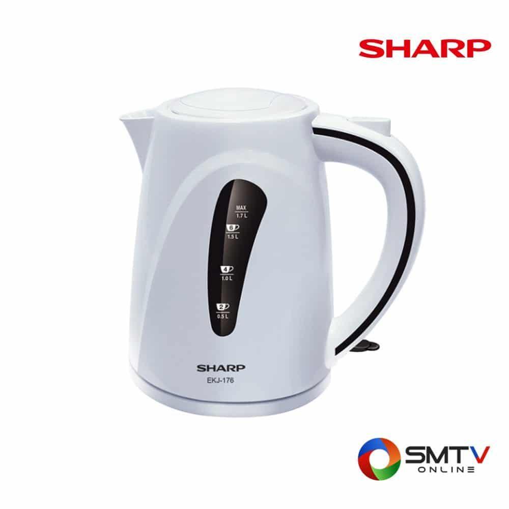 SHARP กาน้ำร้อนไฟฟ้า 1.7 ลิตร รุ่น EKJ-176 ( EKJ-176 ) รหัสสินค้า : ekj176