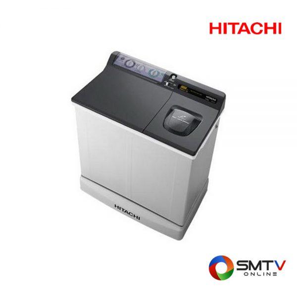 HITACHI เครื่องซักผ้า สองถัง 8.5 กก. รุ่น PS 85LSJ DGR