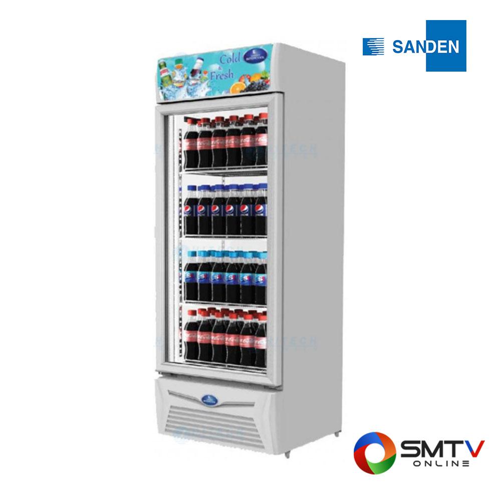 SANDEN ตู้แช่เย็นแบบยืน บานประตูกระจก 9.5 คิว / 267 ลิตร รุ่น SPA-0253